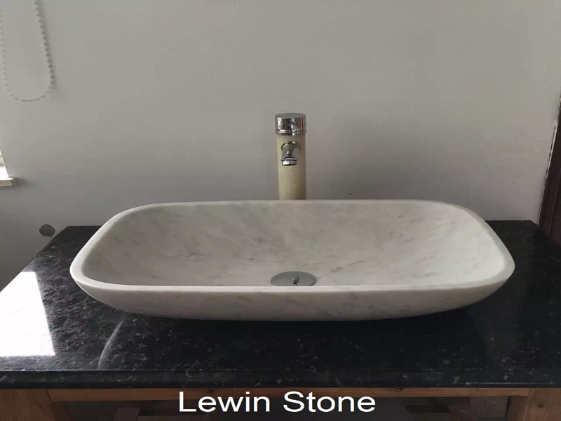 White Marble Square Wash Basin