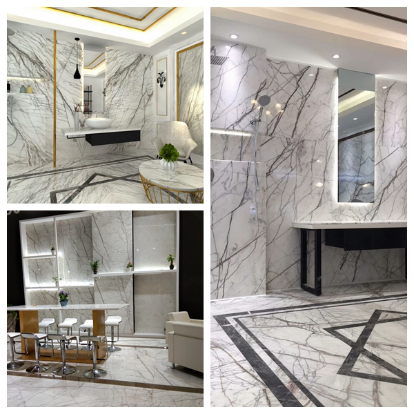 Spider White Marble Slab