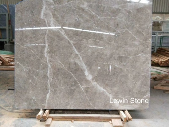 Cloudy grey Marble Slab